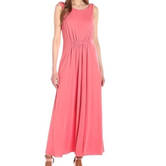 ee0dde420bc Coral Pink Maxi Dress Size L NWT